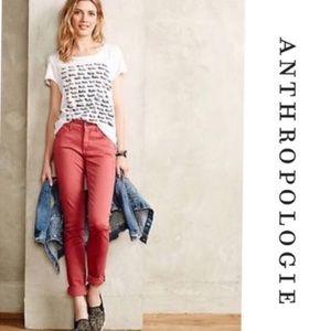 pilcro & the letterpress stet skinny jeans salmon